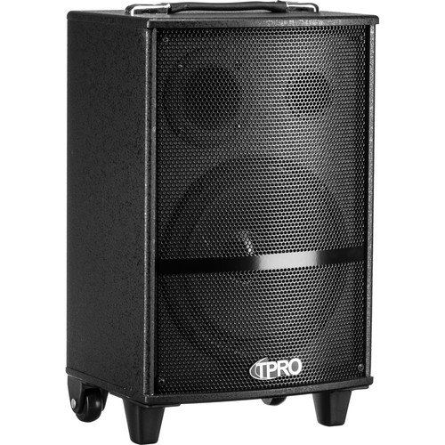 """Technical Pro WASP810B Rechargeable 8"""" Bluetooth-Enabled Portable PA System with Light Show (Black)"""