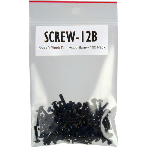 "TecNec 4-40 x 1/2"" Pan Head Screws for Chassis Mount Connectors (Pack of 100, Black)"