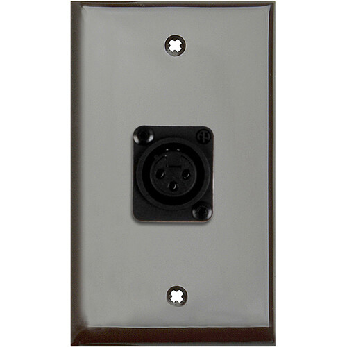 TecNec 1-Gang Brown Lexan Wall Plate with 1 NC3FD-L-1-B Connector