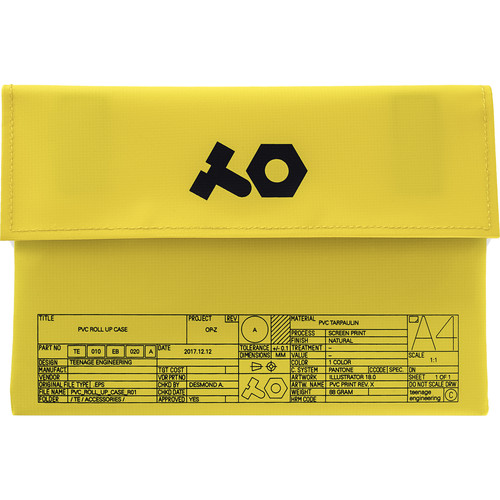 teenage engineering OP-Z PVC Roll Up Bag (Yellow)