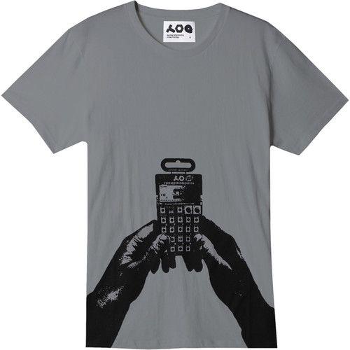 Teenage Engineering PO-12 Pocket Operator Logo T-Shirt by Cheap Monday (Gray, Large)