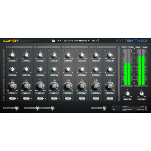 Tek'it Audio EQP8 2 - Parametric 8-Band Equalizer Plug-In (Download)