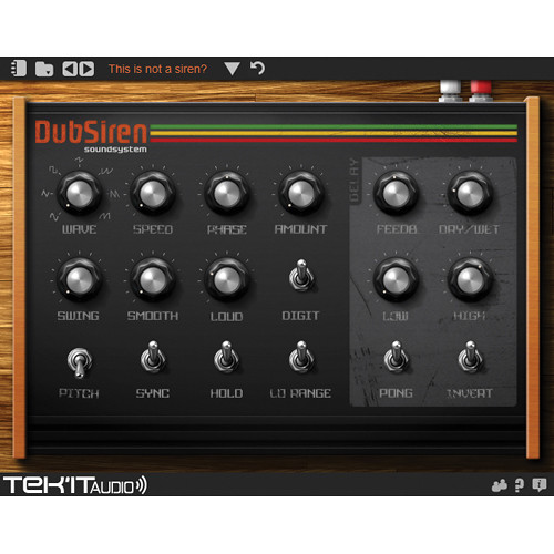 Tek'it Audio DubSiren - Siren Sound Generating Software (Download)