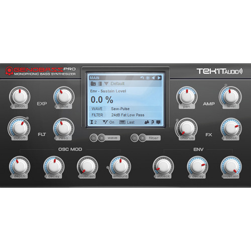 Tek'it Audio Genobazz Pro - Monophonic Software Synthesizer (Download)