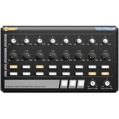 Tek'it Audio 8EQF - Semi-Parametric 8-Band Equalizer Plug-In (Download)