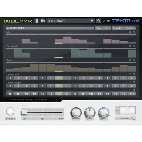 Tek'it Audio DlayR - Pattern Controlled Delay Plug-In (Download)