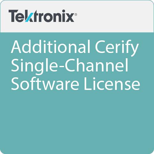 Tektronix Additional Cerify Single-Channel Software License
