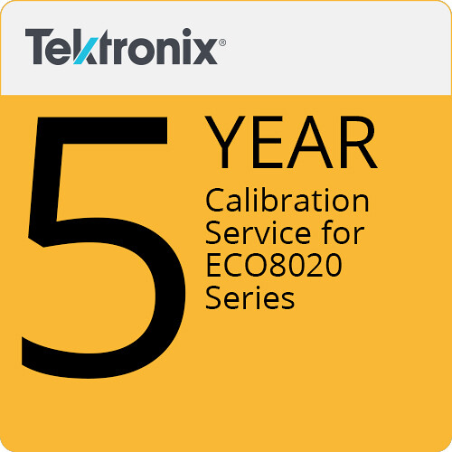 Tektronix ECO8020C5 5-Year Calibration Service for ECO8020 Series