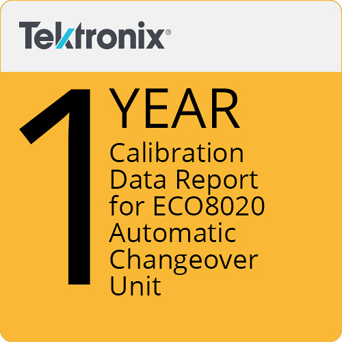Tektronix 1-Year Calibration Data Report for ECO8020 Automatic Changeover Unit