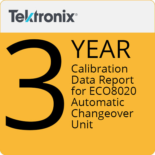 Tektronix Tektronix 3-Year Calibration Data Report for ECO8020 Automatic Changeover Unit