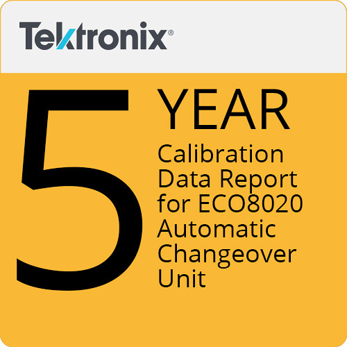 Tektronix 5-Year Calibration Data Report for ECO8020 Automatic Changeover Unit