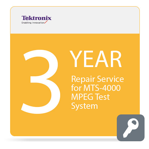 Tektronix Repair Service for MTS4000 MPEG Test System (3-Year)