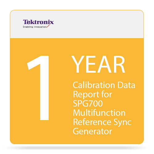 Tektronix 1-Year Calibration Data Report for SPG700 Multifunction Reference Sync Generator