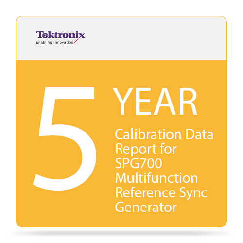 Tektronix 5-Year Calibration Data Report for SPG700 Multifunction Reference Sync Generator