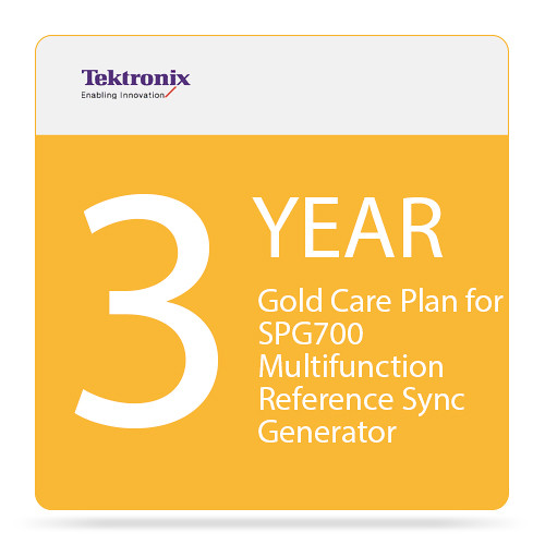 Tektronix 3-Year Gold Care Plan for SPG700 Multi-Function Reference Sync Generator