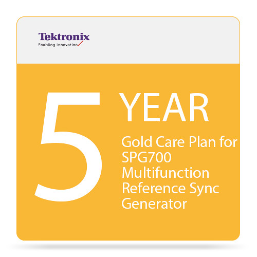 Tektronix 5-Year Gold Care Plan for SPG700 Multi-Function Reference Sync Generator