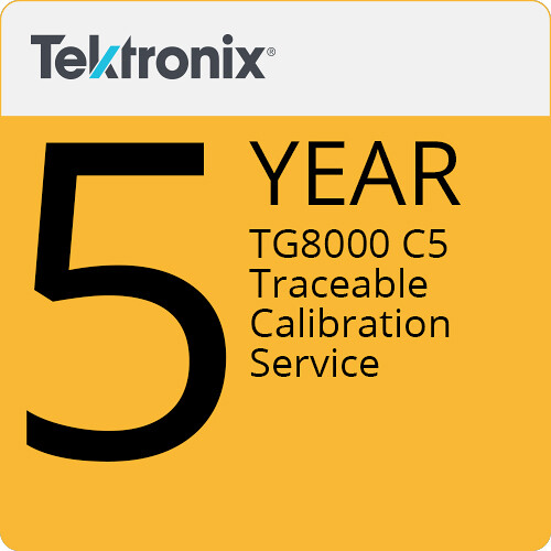 Tektronix TG8000 C5 5-Year Traceable Calibration Service