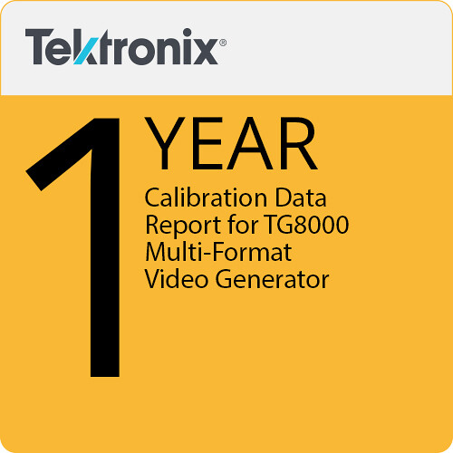 Tektronix Calibration Data Report for TG800 Multi-format Video Generator