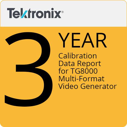 Tektronix Calibration Data Report for TG800 Multi-format Video Generator (3-Year)
