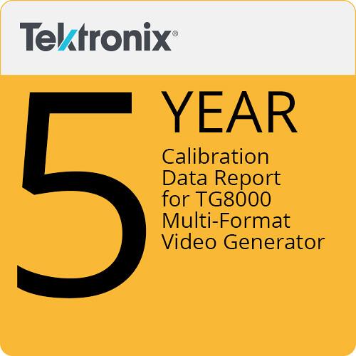 Tektronix Calibration Data Report for TG800 Multi-format Video Generator (5-Year)