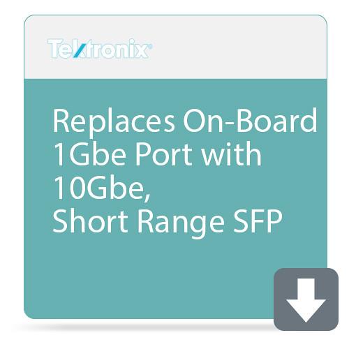 Tektronix Replaces On-Board 1Gbe Port with 10Gbe, Short Range SFP