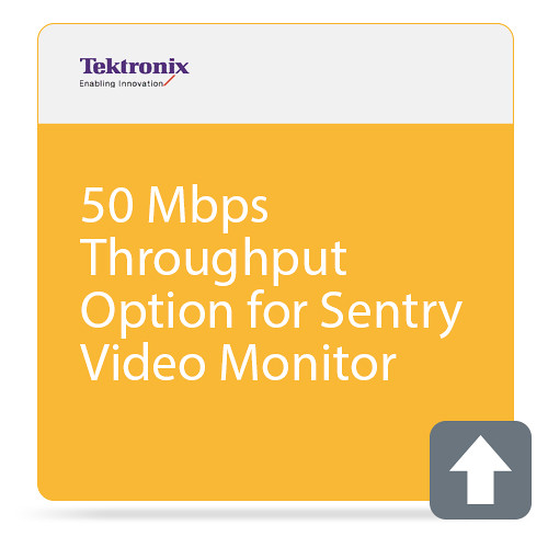 Tektronix 50 Mbps Throughput Option for Sentry Video Monitor