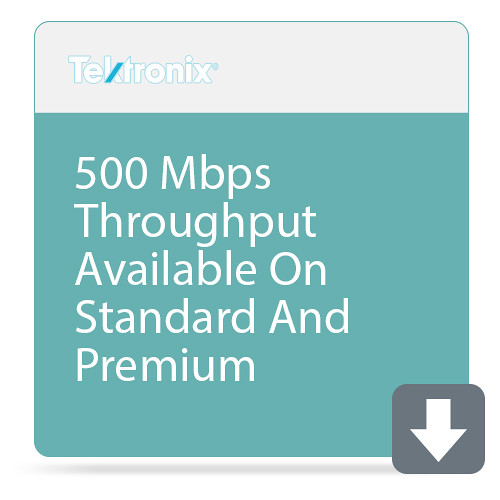 Tektronix 500 Mbps Throughput Available On Standard And Premium