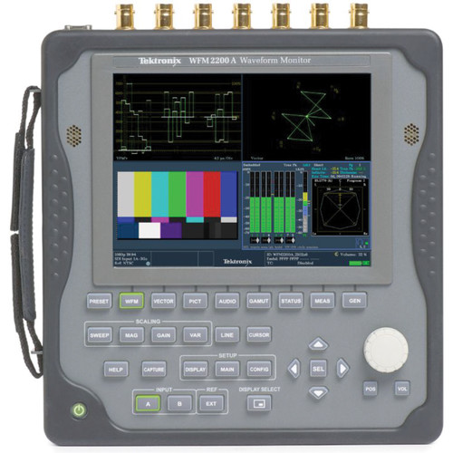 Tektronix WFM2200A Multiformat Multistandard Portable Waveform Monitor