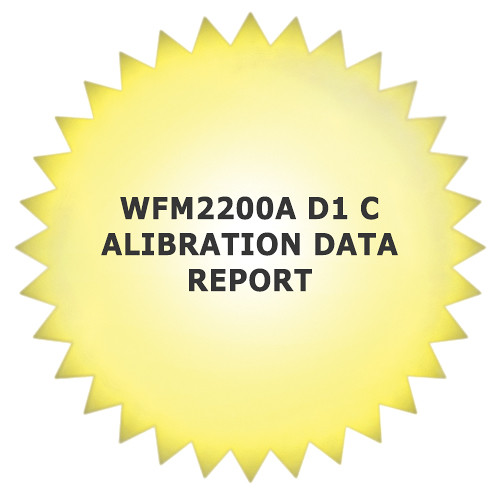 Tektronix 1-Year Calibration Data Report for WFM2200