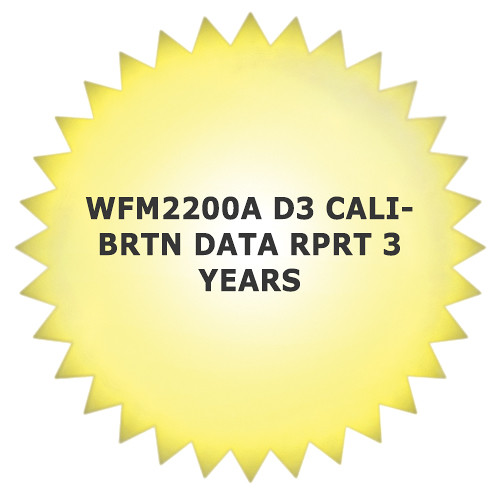 Tektronix 3-Year Calibration Data Report for WFM2200