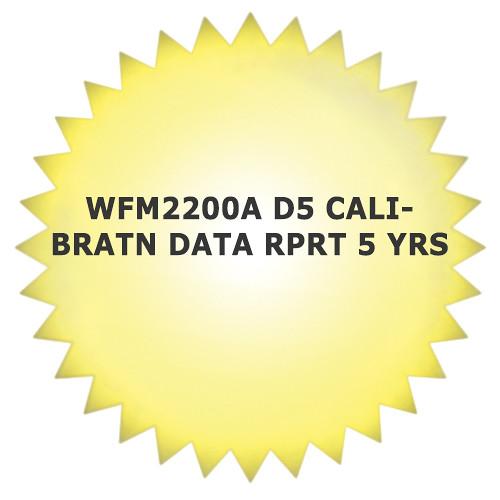 Tektronix 5-Year Calibration Data Report for WFM2200