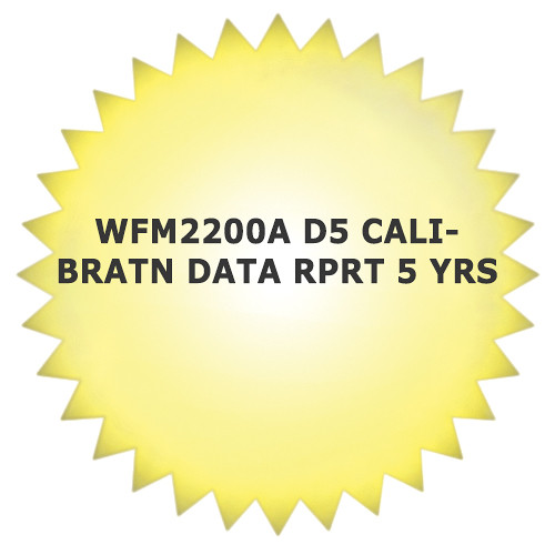 Tektronix 5-Year Calibration Data Report for WFM2200