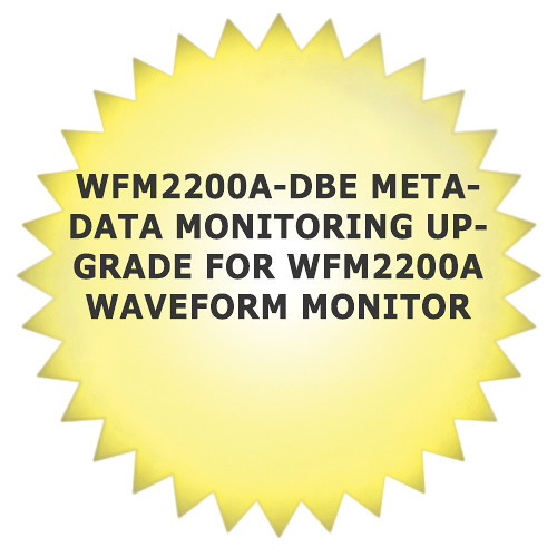 Tektronix WFM2200A-DBE Metadata Monitoring Upgrade for WFM2200A Waveform Monitor