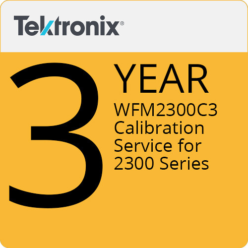 Tektronix WFM2300C3 3-Year Calibration Service for 2300 Series