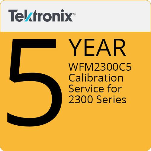 Tektronix WFM2300C5 5-Year Calibration Service for 2300 Series