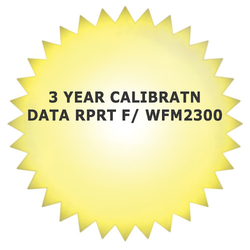 Tektronix 3-Year Calibration Data Report for WFM2300