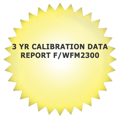 Tektronix 5-Year Calibration Data Report for WFM2300