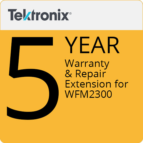 Tektronix 5-Year Warranty & Repair Extension for WFM2300