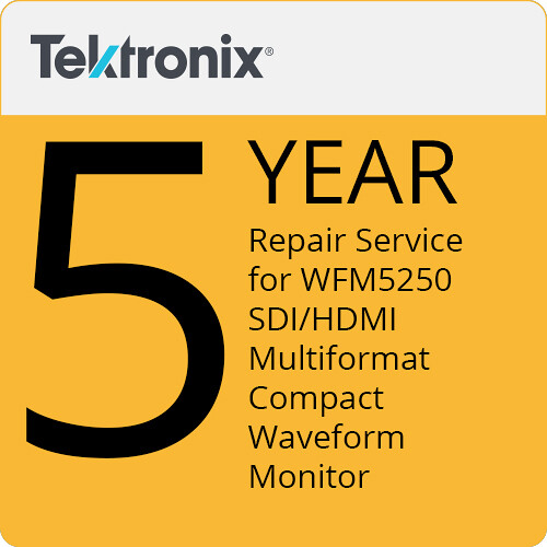 Tektronix Repair Service of 5 Years for WFM5250 SDI/HDMI Multiformat Compact Waveform Monitor