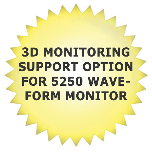 Tektronix 3D Monitoring Support Option for 5250 Waveform Monitor