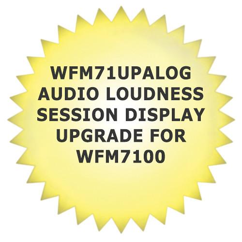 Tektronix WFM71UPALOG Audio Loudness Session Display Upgrade for WFM7100