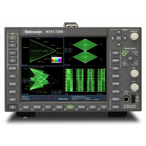 Tektronix Multi-Format Waveform Monitor with Integrated Display (1/2 Rack, 3 RU)