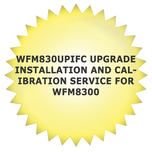 Tektronix WFM830UPIFC Service Installation and Calibration for WFM8300