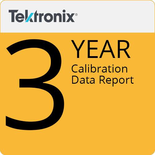 Tektronix 3-Year Calibration Data Report