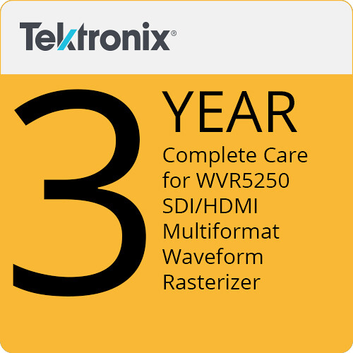 Tektronix Complete Care of 3 Years for WVR5250 SDI/HDMI Multiformat Waveform Rasterizer