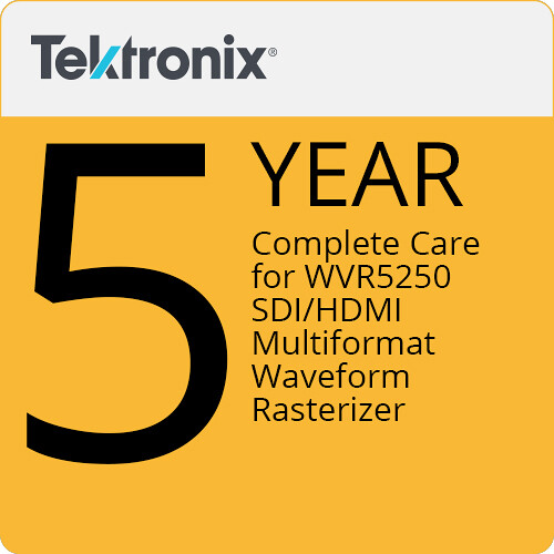 Tektronix Complete Care of 5 Years for WVR5250 SDI/HDMI Multiformat Waveform Rasterizer