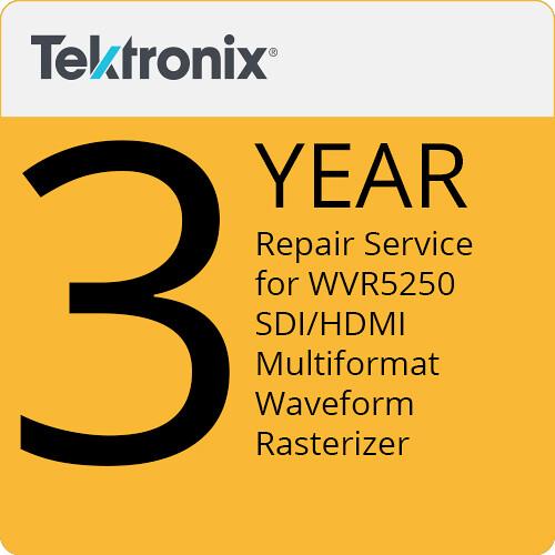 Tektronix Repair Service of 3 Years for WVR5250 SDI/HDMI Multiformat Waveform Rasterizer