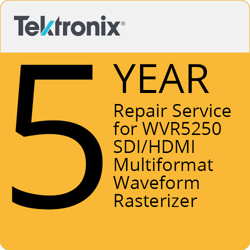 Tektronix Repair Service of 5 Years for WVR5250 SDI/HDMI Multiformat Waveform Rasterizer