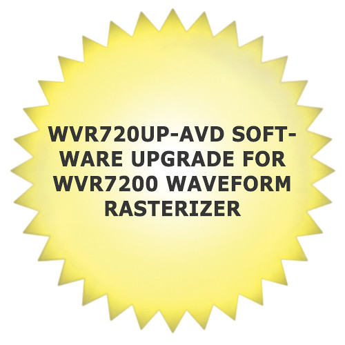 Tektronix WVR720UP-AVD Software Upgrade for WVR7200 Waveform Rasterizer
