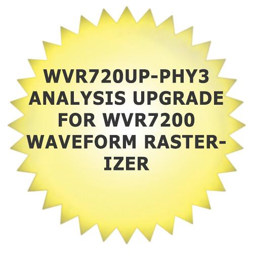 Tektronix WVR720UP-PHY3 Analysis Upgrade for WVR7200 Waveform Rasterizer
